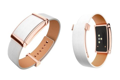 The Caeden Soda in rose gold andwhiteleather.