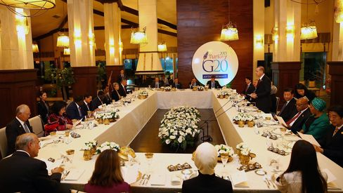 Turkish President Erdogan Hosts Dinner in Honor of G20 Leaders