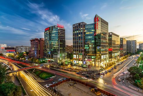 Beijing's Zhongguancun high-tech district, known as China's Silicon Valley.