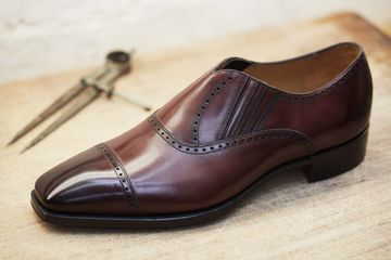 Zegna shoe close to being finished.