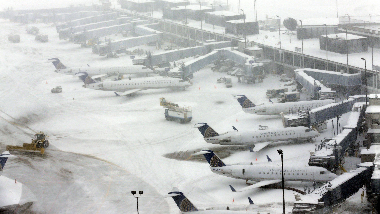Resultado de imagen para Chicago airport snow