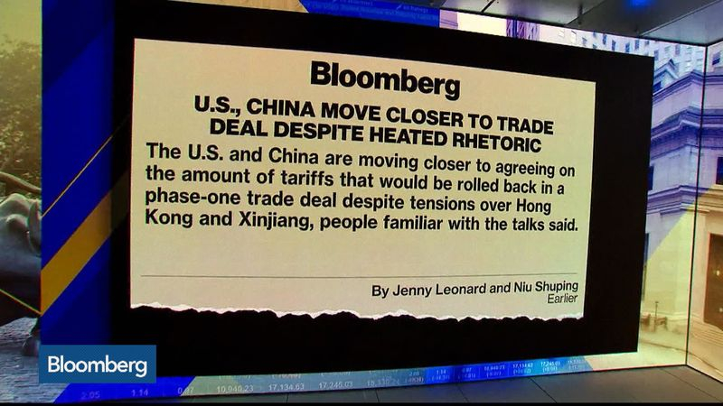 BTIG's Julian Emanuel, Michael Shaoul of Marketfield Asset Management and Charles Schwab's Kathy Jones discuss the outlook for a U.S.-China trade deal.  Source: Bloomberg