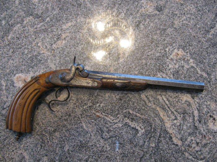 duel pistolet a percussion 19eme siecle