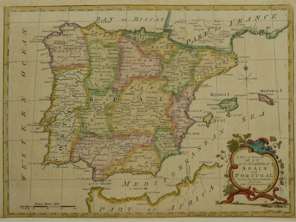 Spain  D  Fenning   J  Collyer   A new and Accurate Map of the Kingdom of  Spain and Portugal   1773   Catawiki Spain  D  Fenning   J  Collyer   A new and Accurate Map of