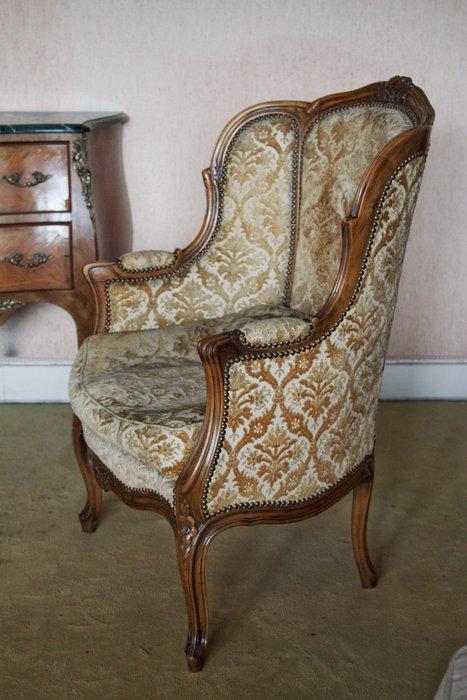ancien fauteuil bergere style louis xv