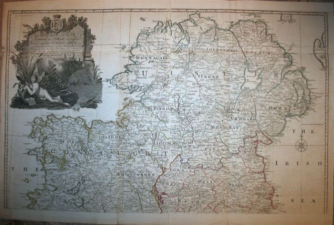 Wall map of Ireland  2 maps   Laurie   Whittle   A map of the     Wall map of Ireland  2 maps   Laurie   Whittle   A map of the Kingdom of  Ireland   1794