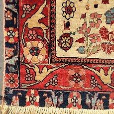 magnifique tapis ancien persan sarough
