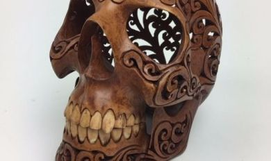 Wood Carving A Skull | Wooden Thing