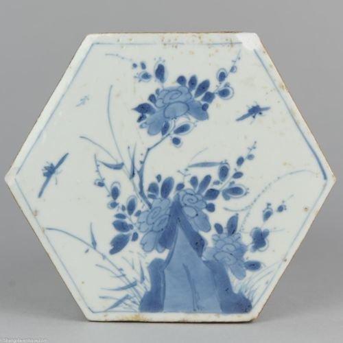 Tile - Blue and white - Porcelain - China - Kangxi (1662-1722) - Catawiki