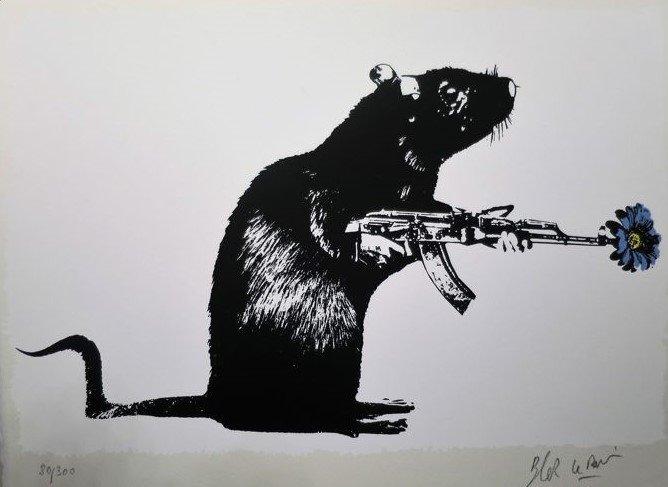 Stencil Art Le Blek Rat