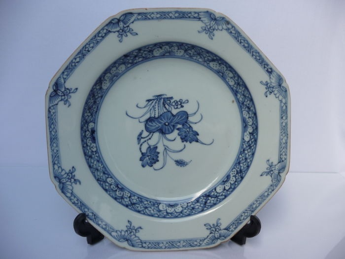 Plate (1) - Blue and white - Porcelain - China - Qianlong (1736-1795) - Catawiki