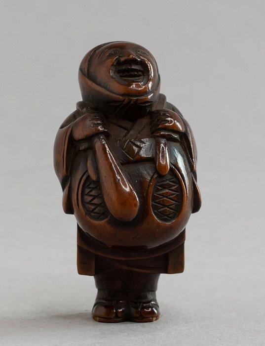 Netsuke (1) - Wood - Netsuke of Shinto priest Eji - Unsigned - Japan - 19th century - Catawiki