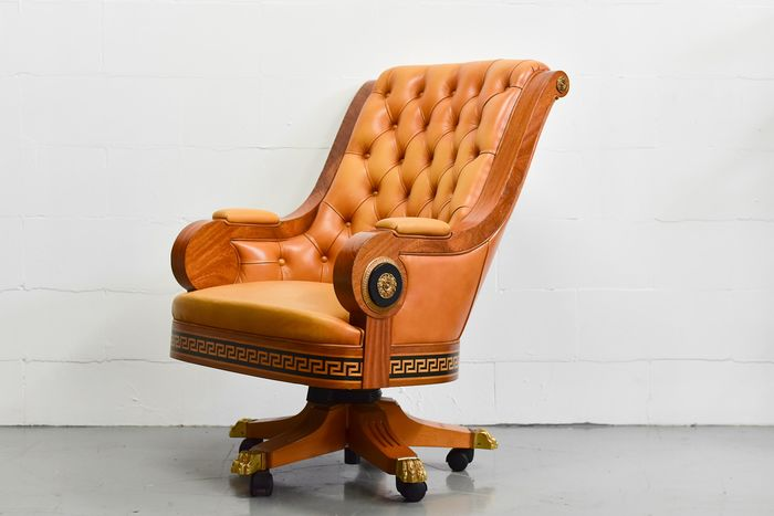 versace style chaise de bureau en