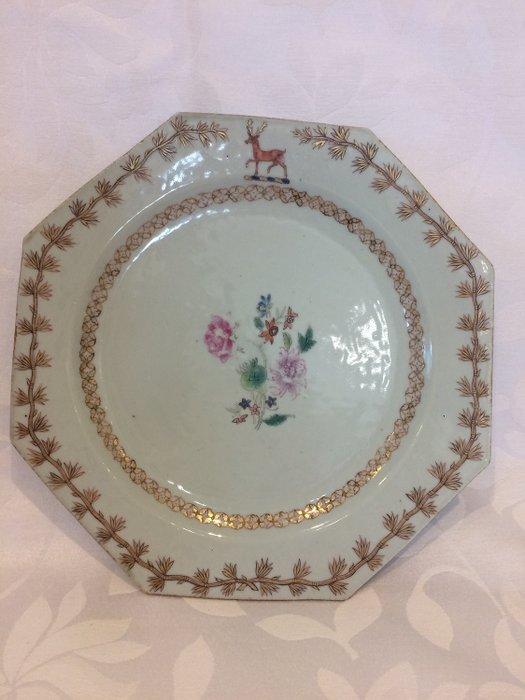 Octagonal plate - Porcelain - Famille rose - China - Qianlong (1736-1795) - Catawiki