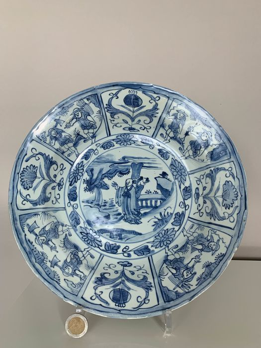 Charger (1) - Blue and white - Porcelain - China - Ming Dynasty (1368-1644) - Catawiki