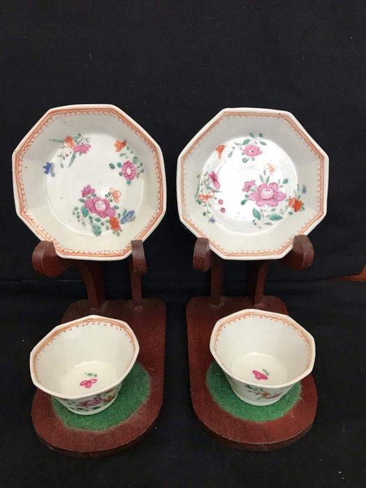 Cup and saucer - Porcelain - China - Qianlong (1736-1795) - Catawiki