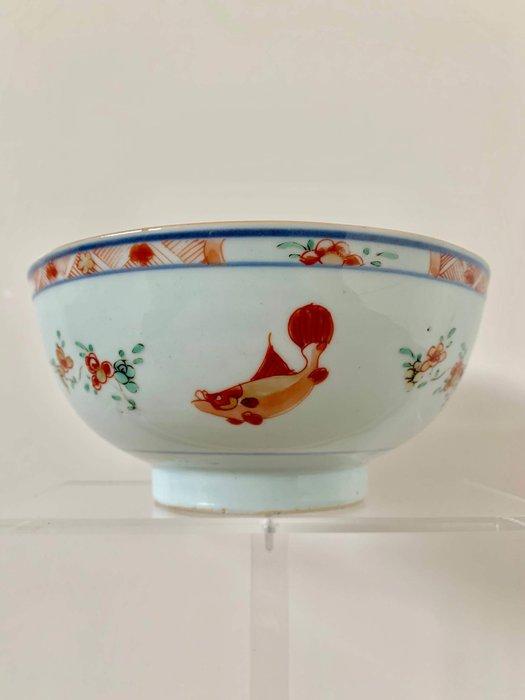 Bowl (1) - Famille verte - Porcelain - Fish - China - Kangxi (1662-1722) - Catawiki