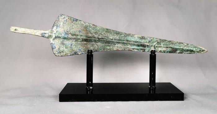 Ancient Greek Archaic Period Bronze Sword 315mm on Custom Made Stand - Catawiki