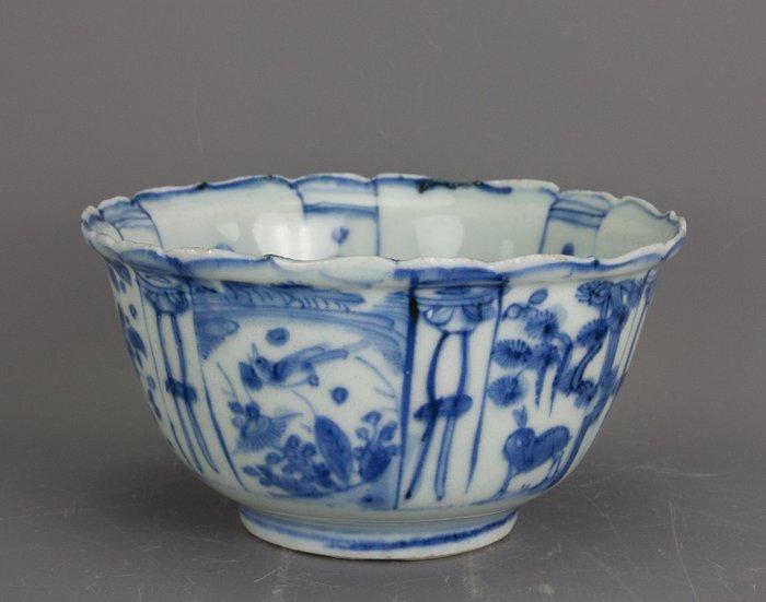 Bowl - Blue and white, Kraak porcelain - Porcelain - China - Wanli (1573-1619) - Catawiki