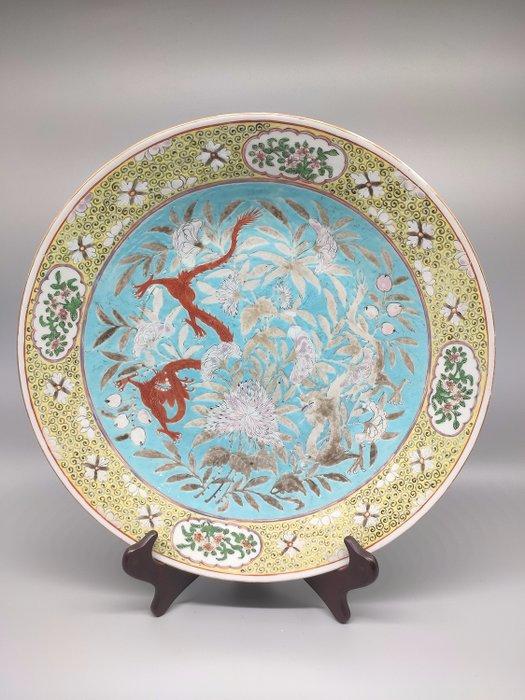 Dish - Famille rose - Porcelain - Dragon - China - 19th century