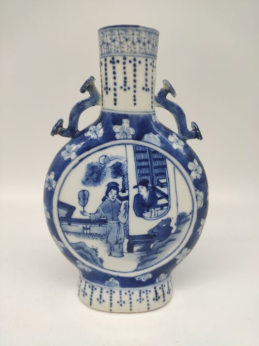 Vase - Blue and white - Porcelain - character - China - 19th century