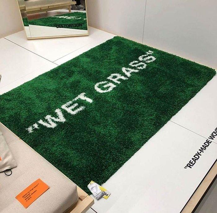 virgil abloh ikea tapis wet grass