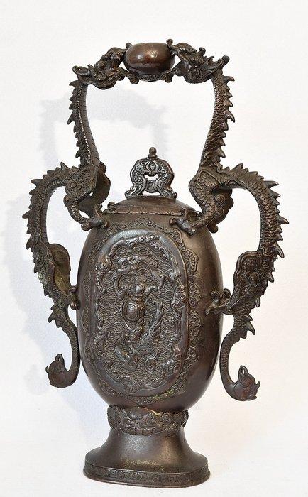 Vase - Patinated bronze - Japan - Meiji period (1868-1912) - Catawiki