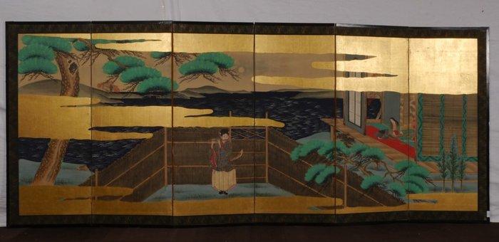 Byobu - Rice paper - Japan - Meiji period (1868-1912) - Catawiki