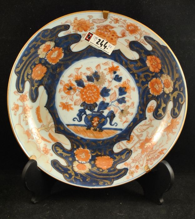 22cm imari plate (1) - Imari - Porcelain - Flowers - Japan - 18th century - Catawiki