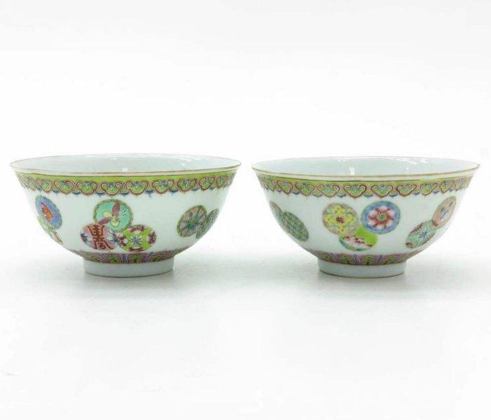 Bowl - Famille rose - Porcelain - China - Republic period (1912-1949) - Catawiki