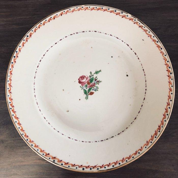 Plate (1) - Famille rose - Porcelain - China - Qianlong (1736-1795) - Catawiki
