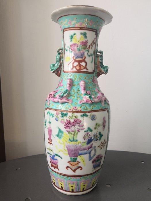 Vase (1) - Famille verte - Porcelain - China - 19th century - Catawiki