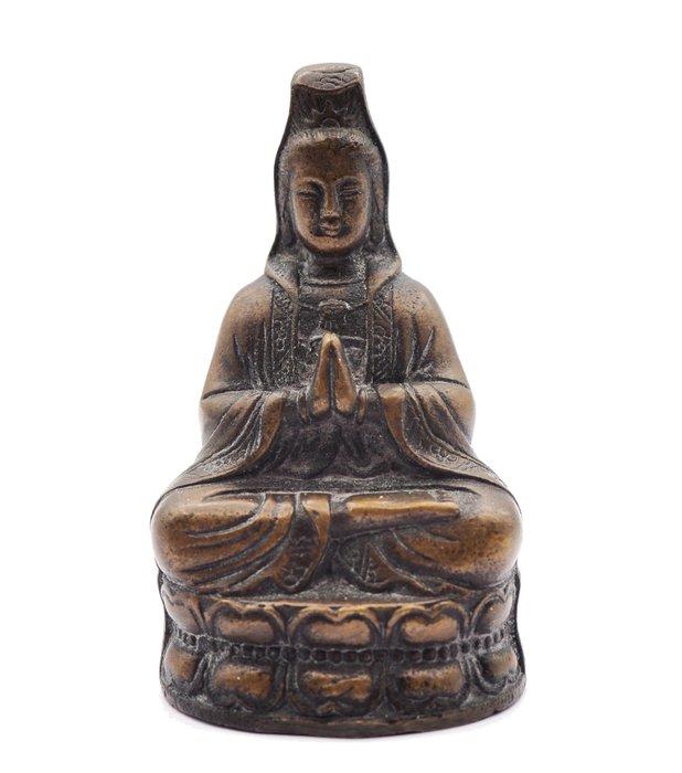Former bronze bodhisattva Guanyin 觀音 - Bronze - Tibet - 19th century