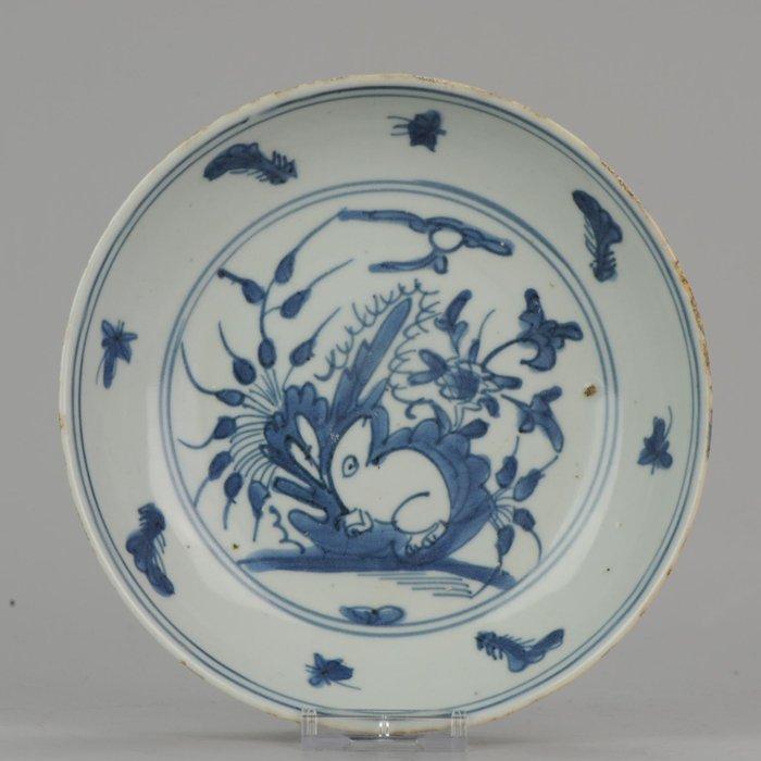 Plate - Porcelain - Chinese Wanli Jiajing Ming China RABBIT HARE - China - 1540-1580 - Catawiki