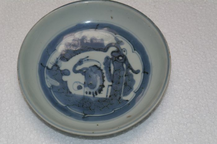 Chinese antique plate marked - Blue and white - Porcelain - Asia - 18th century/19th century - Catawiki
