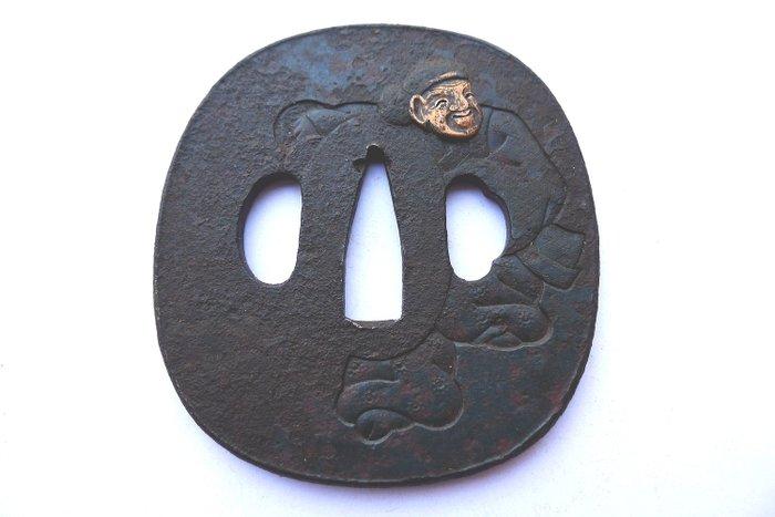 Ebishu god motif tsuba - Iron - Japan - Edo Period (1600-1868) - Catawiki