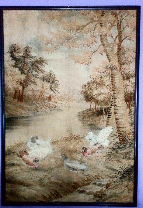 Tapestry - Silk, Wood - Japan - Meiji period (1868-1912) - Catawiki