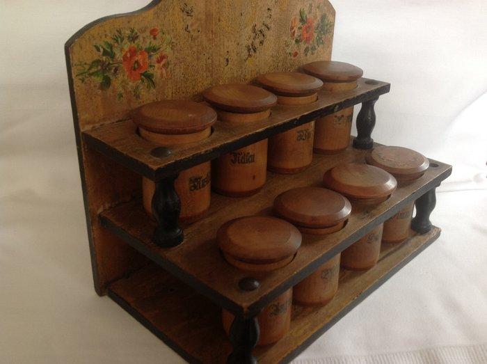 antique spice rack austrian folk art