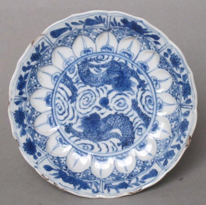 Tea tile (1) - Porcelain - Dragon - China - 18th century - Catawiki
