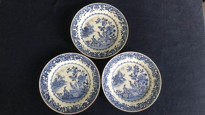 Plates (3) - Porcelain - Birds - China - Qianlong (1736-1795)