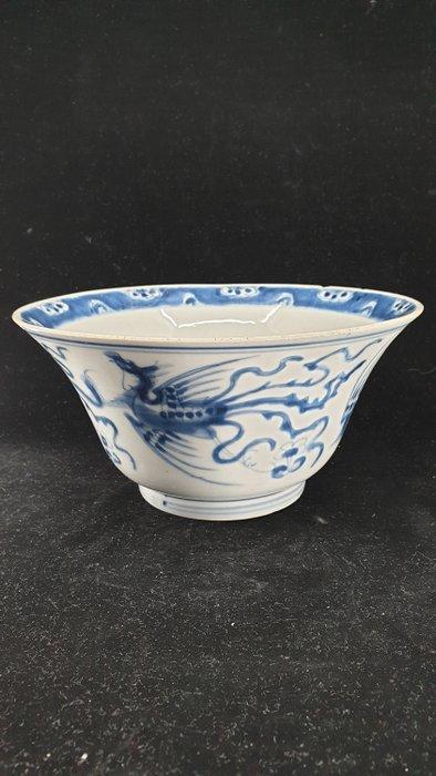 Bowl (1) - Blue and white - Porcelain - Griffin - China - Kangxi (1662-1722)