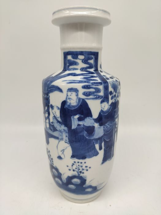 Vase - Blue and white - Porcelain - character - China - Late 19th century