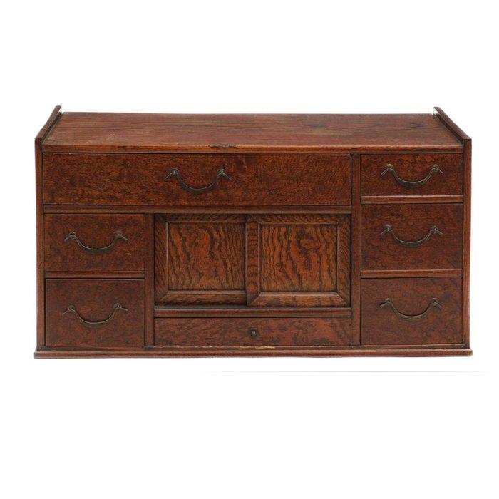 Beautiful hardwood Zelkova (keyaki)-wooden small reading chest - Hardwood - Japan - Meiji period (1868-1912) - Catawiki