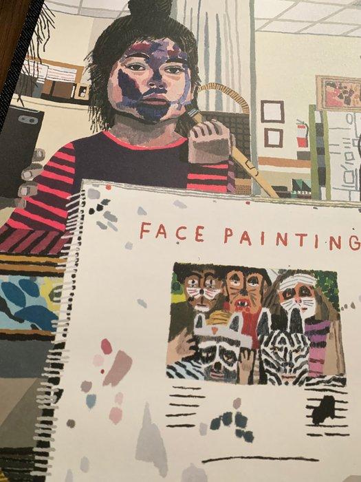 jonas wood face painting poster
