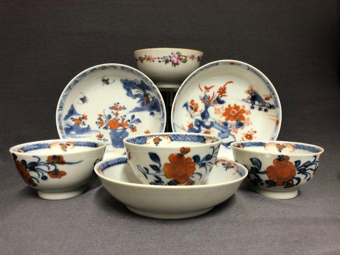 Cup, Saucer (7) - Porcelain - China - Qianlong (1736-1795)