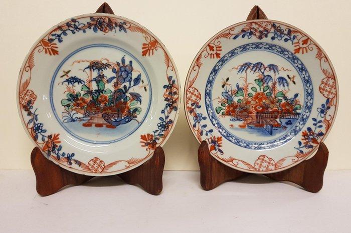 Plates (2) - Porcelain - Amsterdam Fur - China - Kangxi (1662-1722)