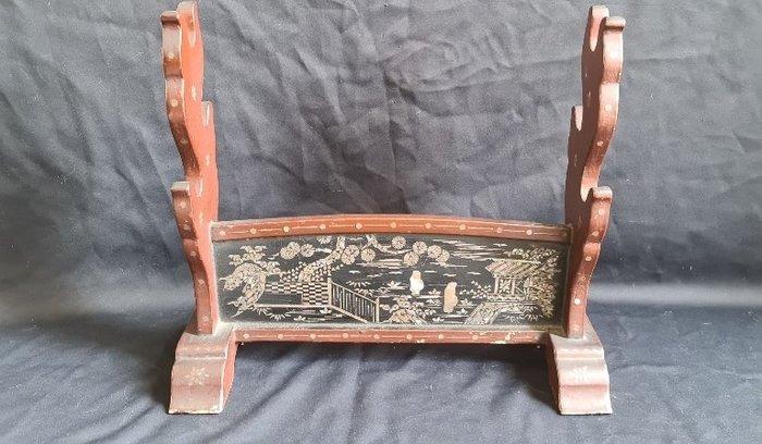 Kakejiku - Wood - Japans Samurai Katana Zwaardenrek kake uit de Edo periode - Japan - Late Edo period