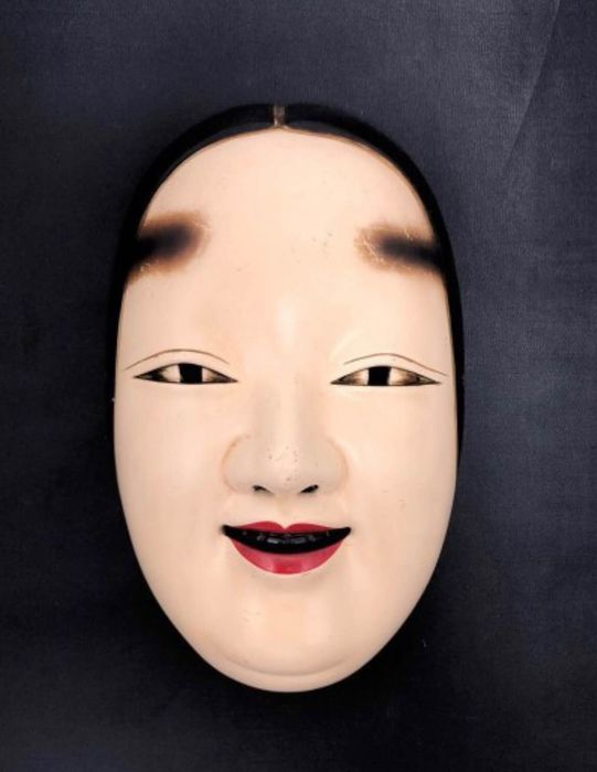 Noh mask - Dry lacquer - Ko-omote 小面 - Japan - ca 1930-40s