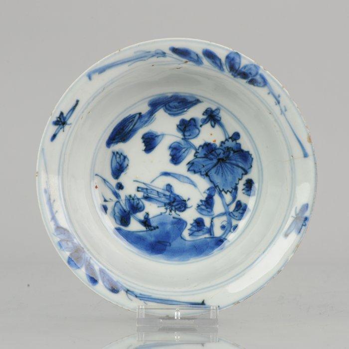 Bowl - Porcelain - Wanli Ming Period Landscape Bowl - China - 16/17th c