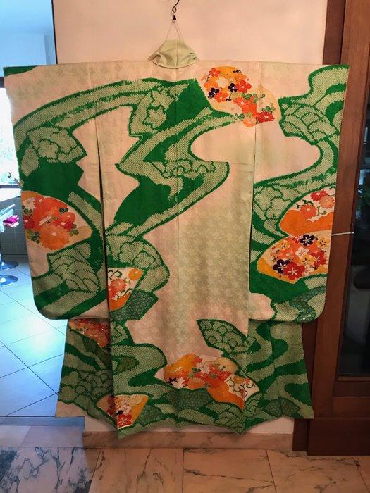 Kimono - Silk - Japan - Mid 20th century